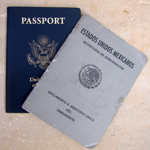 Immigration visa into Mexico