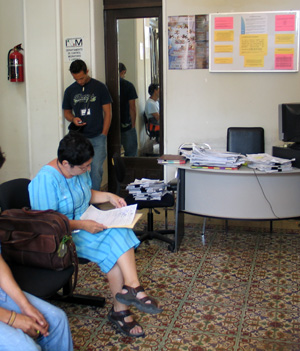 Waiting for visas at the INM Office in Merida Yucatan